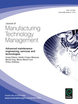 cover image of Journal of Manufacturing Technology Management, Volume 25, Issue 4