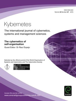 cover image of Kybernetes, Volume 44, Number 6 & 7