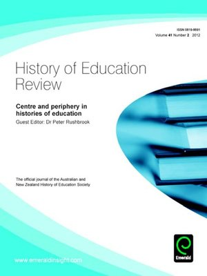 cover image of History of Education Review, Volume 41, Issue 2