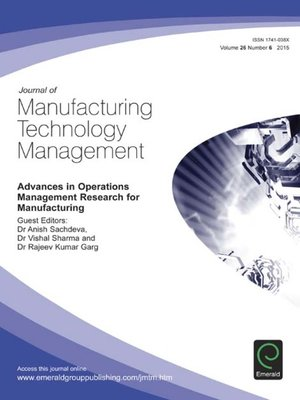 cover image of Journal of Manufacturing Technology Management, Volume 26, Number 6