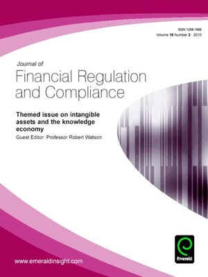 cover image of Journal of Financial Regulation and Compliance, Volume 18, Issue 2