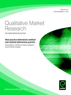 cover image of Qualitative Market Research: An International Journal, Volume 12, Issue 3