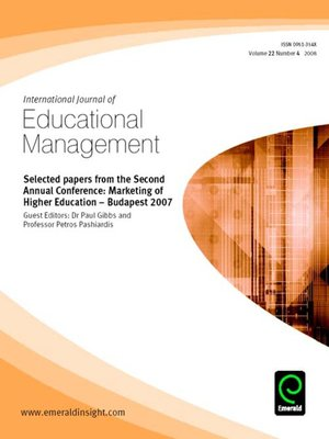 cover image of International Journal of Educational Management, Volume 22, Issue 4