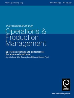 cover image of International Journal of Operations & Production Management, Volume 23, Issue 9