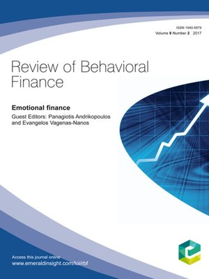 cover image of Review of Behavioral Finance, Volume 9, Number 2