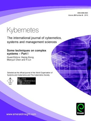cover image of Kybernetes, Volume 39, Issue 6