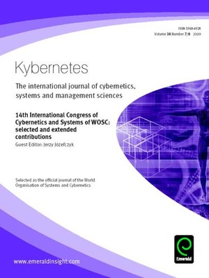 cover image of Kybernetes, Volume 38, Issue 7 & 8