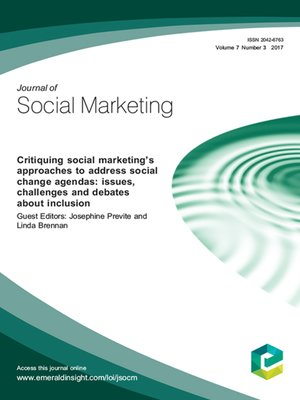 Cover of the Journal of Social Marketing