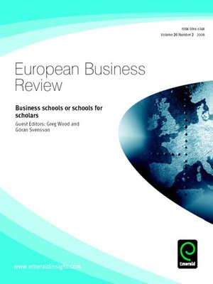 cover image of European Business Review, Volume 20, Issue 2