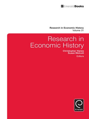 cover image of Research in Economic History, Volume 31