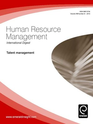 cover image of Human Resource Management International Digest, Volume 18, Issue 3