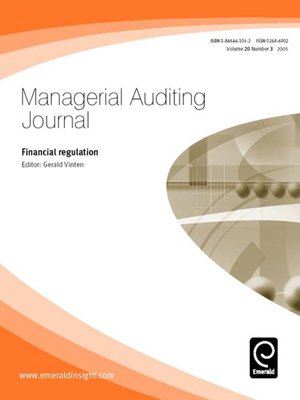 cover image of Managerial Auditing Journal, Volume 20, Issue 3