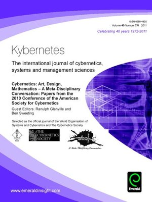 cover image of Kybernetes, Volume 40, Issues 7 & 8