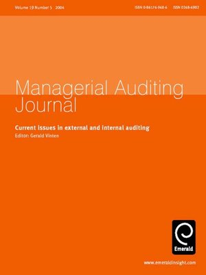 cover image of Managerial Auditing Journal, Volume 19, Issue 5