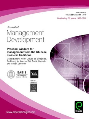 journal of management development Academy of world business, marketing and management development  the journal of management and world business research (issn 1449 3179)  for information and password for accessing the complete journals send an email to.