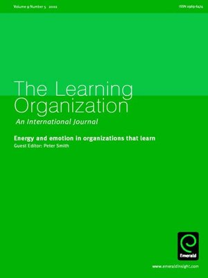 cover image of The Learning Organization, Volume 9, Issue 5