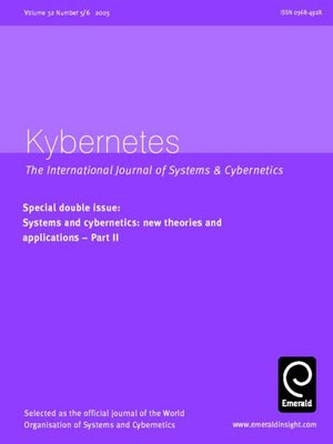 cover image of Kybernetes, Volume 32, Issue 5 & 6