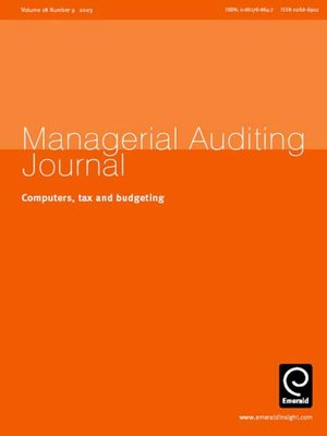 cover image of Managerial Auditing Journal, Volume 18, Issue 9