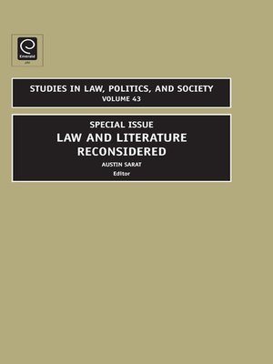 cover image of Studies in Law, Politics, and Society, Volume 43