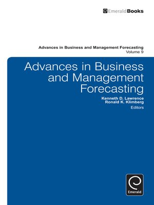 cover image of Advances in Business and Management Forecasting, Volume 9