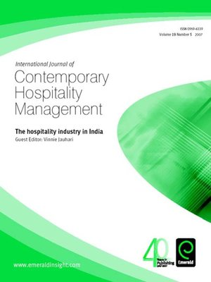 cover image of International Journal of Contemporary Hospitality Management, Volume 19, Issue 5
