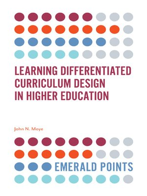 cover image of Learning Differentiated Curriculum Design in Higher Education