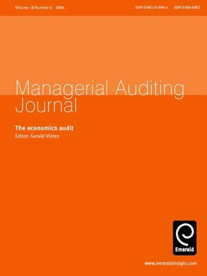 cover image of Managerial Auditing Journal, Volume 19, Issue 6