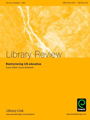 cover image of Library Review, Volume 53, Issue 2