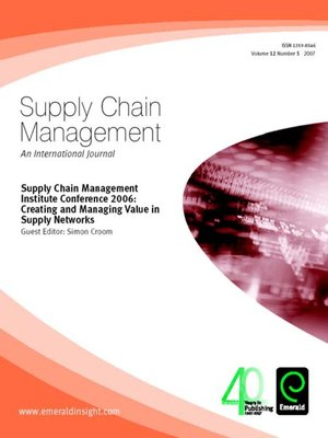 cover image of Supply Chain Management, Volume 12, Issue 5