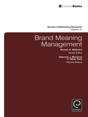 cover image of Review of Marketing Research, Volume 12