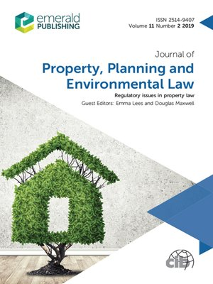 cover image of Journal of Property, Planning and Environmental Law, Volume 11, Number 2