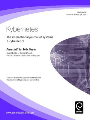 cover image of Kybernetes, Volume 35, Issue 3 & 4