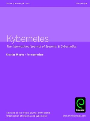 cover image of Kybernetes, Volume 31, Issue 7 & 8