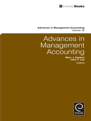 cover image of Advances in Management Accounting, Volume 19