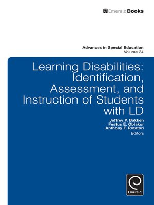 cover image of Advances in Special Education, Volume 24