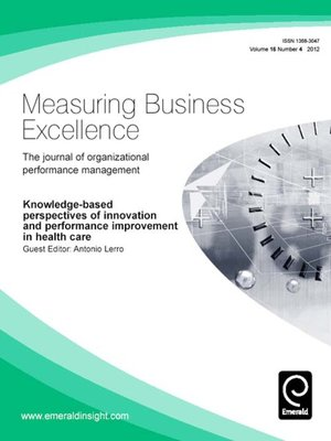 cover image of Measuring Business Excellence, Volume 16, Issue 4