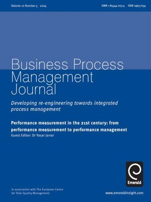 cover image of Business Process Management Journal, Volume 10, Issue 5