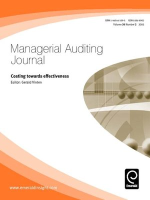 cover image of Managerial Auditing Journal, Volume 20, Issue 2