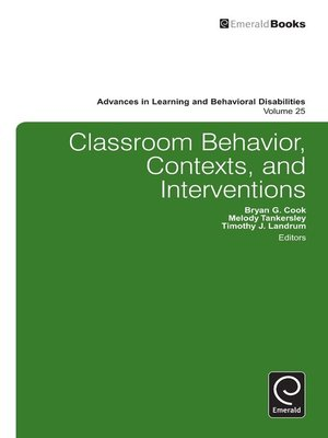 cover image of Advances in Learning and Behavioral Disabilities, Volume 25