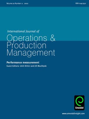 cover image of International Journal of Operations & Production Management, Volume 22, Issue 11