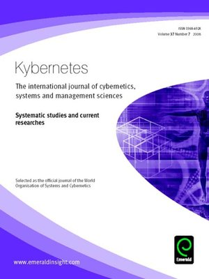 cover image of Kybernetes, Volume 37, Issue 7