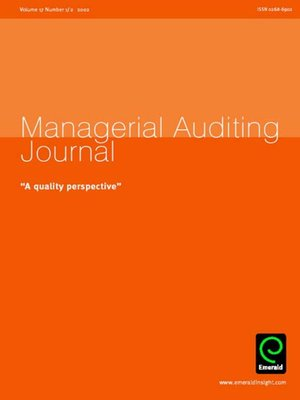 cover image of Managerial Auditing Journal, Volume 17, Issue 1 & 2