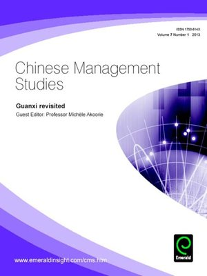 cover image of Chinese Management Studies, Volume 7, Issue 1