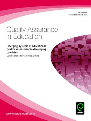 cover image of Quality Assurance in Education, Volume 16, Issue 2
