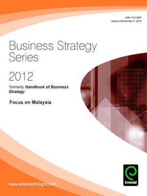 cover image of Business Strategy Series, Volume 13, Issue 1