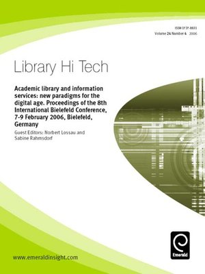 cover image of Library Hi-Tech, Volume 24, Issue 4