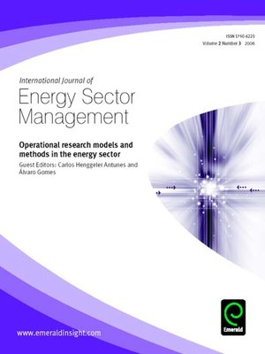 cover image of International Journal of Energy Sector Management, Volume 2, Issue 3