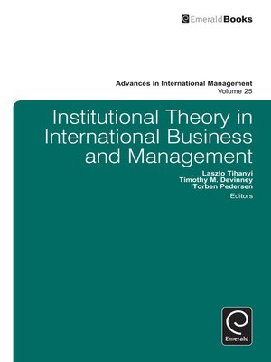 cover image of Advances in International Management, Volume 25
