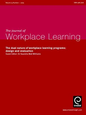 cover image of Journal of Workplace Learning, Volume 15, Issue 1
