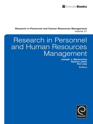 cover image of Research in Personnel and Human Resources Management, Volume 31
